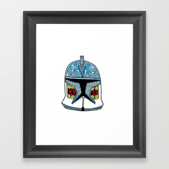 celtic clone trooper Framed Art Print