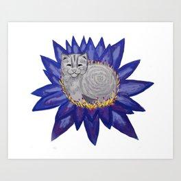 Buddha Cat Art Print