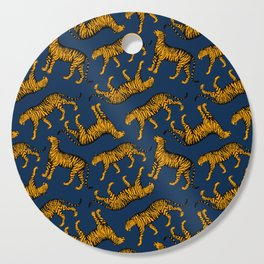 Tigers (Navy Blue and Marigold) Cutting Board