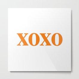 Orange XOXO Metal Print