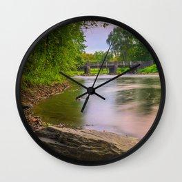 Little Lehigh Creek And The Robin Hood Bridge Wall Clock