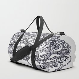 Abstract Flowers 02 Duffle Bag
