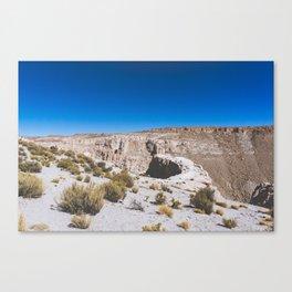 Over the Edges of the Atacama Desert, Bolivia Canvas Print