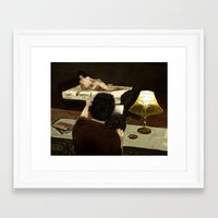 writer Framed Art Prints featuring Writer by DHyland