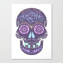 Day of the Dead Pastel Skull (Dia de los Muertos) Canvas Print