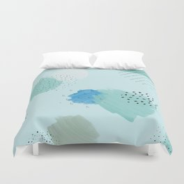 Abtract paint in light blue Duvet Cover