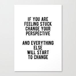 Motivational - Change Your Perspective Canvas Print