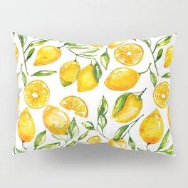 lemon watercolor print Pillow Sham