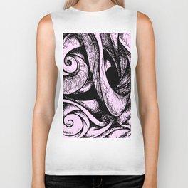 Swirl (black and pink) Biker Tank