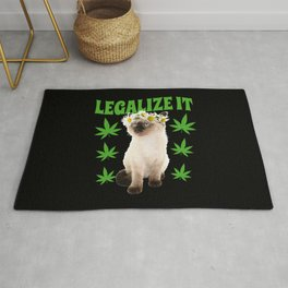 Legalize It Stoned Cat Rug