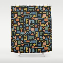 Colorful Shapes Shower Curtain
