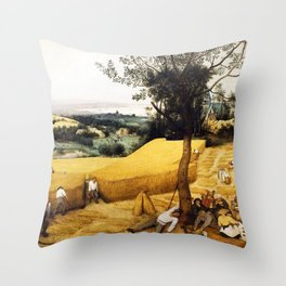 The Harvesters Painting by Pieter Bruegel the Elder Throw Pillow