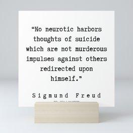 59 |   Sigmund Freud Quotes | 190926 Mini Art Print