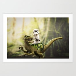 Ride the Raptor - LEGO Art Print
