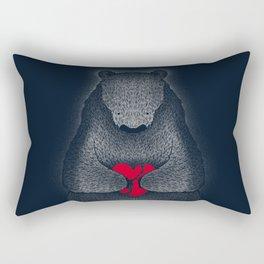 Broken (Dark Blue) Rectangular Pillow