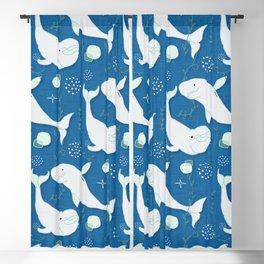 Beluga Whale Blue #homedecor Blackout Curtain
