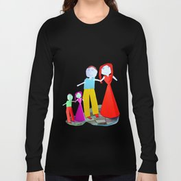 Dance me to the end of love | Kids Painting by Elisavet Long Sleeve T-shirt