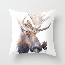 Moose Snoot Throw Pillow