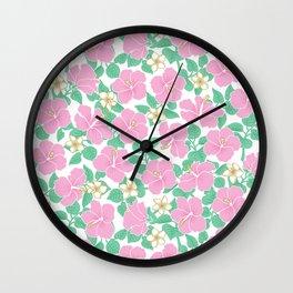 Hibiscus and Plumeria Wall Clock