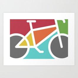 Bike Color Blocks Art Print