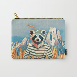Raccoon in the wheat field Carry-All Pouch