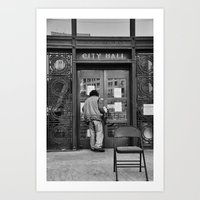 oakland Art Prints featuring Occupy Oakland by luvsick