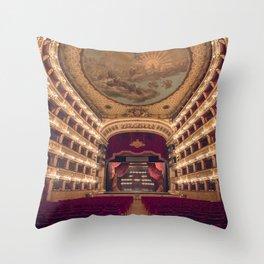 Teatro San Carlo Throw Pillow