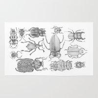 bugs Area & Throw Rugs featuring Bugs by Jillian Leigh