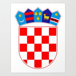 Croatia Coat of Arms Art Print