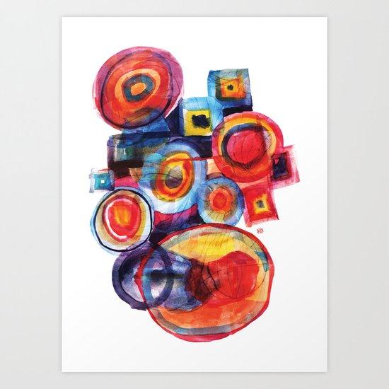 Color composition Art Print