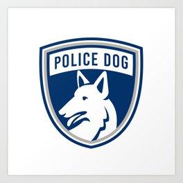 Police Dog Shield Mascot Art Print