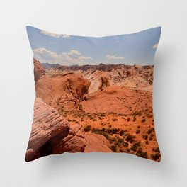 Red Valley II Throw Pillow