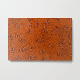 Rusty spotted leather sheet texture abstract Metal Print