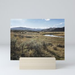 Waiting for Wolves in Lamar Valley - Yellowstone Mini Art Print