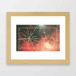 Pulsar Map Framed Art Print