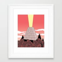 pyramid Framed Art Prints featuring Pyramid by Mike Force