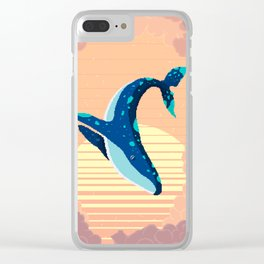 Sky Whale Clear iPhone Case