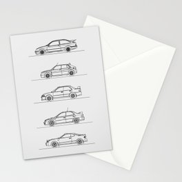 GROUP A RALLY CARS Stationery Cards