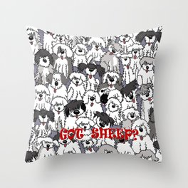 Original Sheepdogs On Watch Throw Pillow