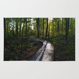 Boardwalk through the forest in southern Ontario Rug
