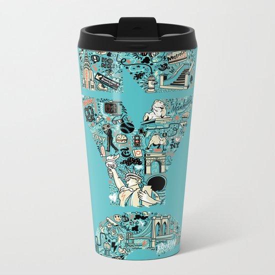 New York City Metal Travel Mug