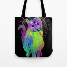 Psychic Psychedelic  Cat Tote Bag
