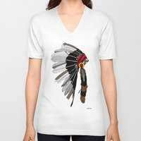 native V-neck T-shirts featuring Native  by weliketrees