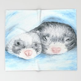Dobby and Niffler Throw Blanket