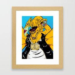 Kaiju Kool Kids_Street King Framed Art Print