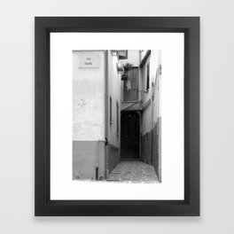 Via Cauta Framed Art Print