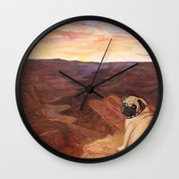 american beauty Wall Clocks featuring An American Beauty   by Zoe McCarthy
