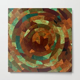 Cubist Inspired Abstract Geometric Pattern Metal Print