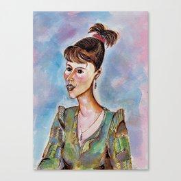 Portrait of a Young Businesswoman Canvas Print