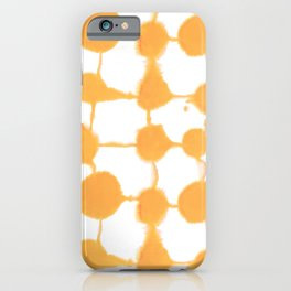 Connect Dots Yellow iPhone Case